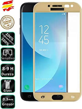 Movilrey Protector para Samsung Galaxy J5 2017 Dorado Completo 3D ...