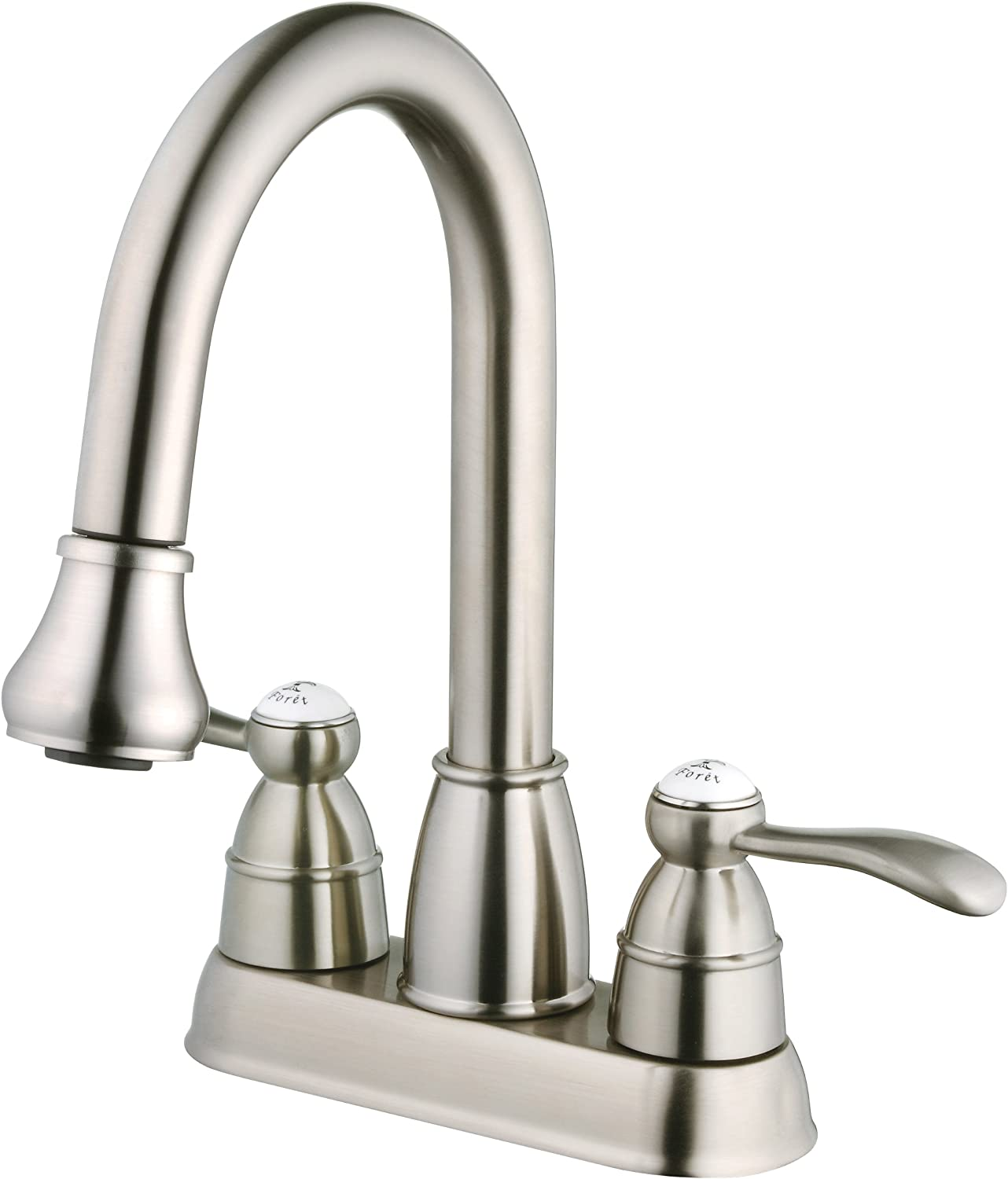 Belle Foret Bfn60001ss Pull Down Spray Laundry Faucet Stainless Steel Touch On Kitchen Sink Faucets Amazon Com