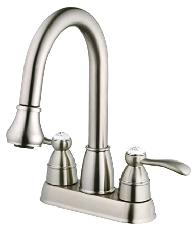 Belle Foret BFN60001SS Pull Down Spray Laundry Faucet, Stainless ...