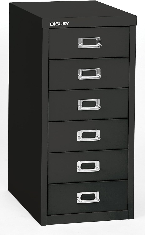 Bisley 336 Drawer Steel Under-Desk Multidrawer Storage Cabinet, Black (MD336-BK)
