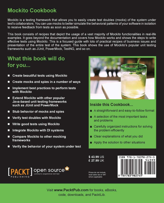 Mockito Cookbook: Amazon co uk: Marcin Grzejszczak