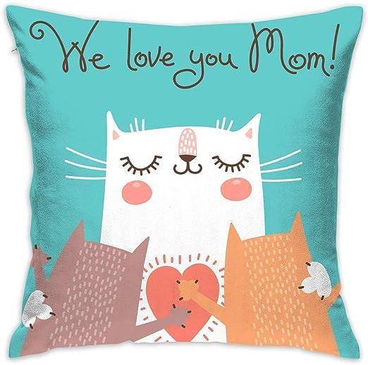 shizh Feliz Día de la Madre Gatos Decoración Throw Pillow ...