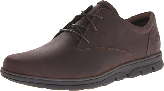 Timberland Bradstreet Ox, Zapatos de Cordones Oxford Hombre, Marrón Dark Brown 242, 41.5 EU