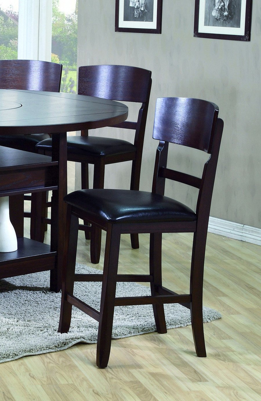 Conner Counter Height Chair Set of 2 by Crown Mark