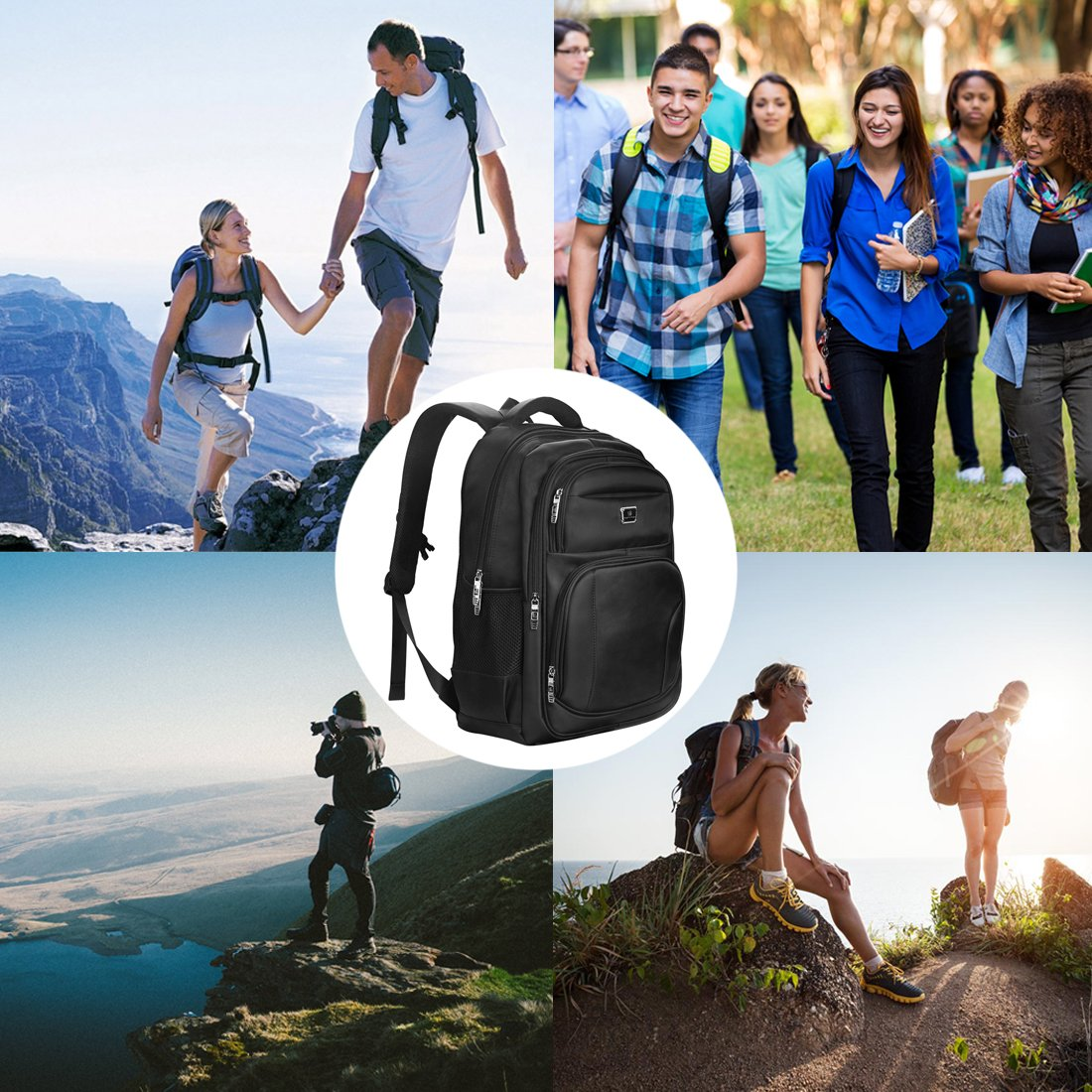Laptop Backpack, Water-resistent Business Loop Backpack, 15.6 Inch Backpack by ShangYu (Image #7)