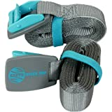 Earth River SUP Roof Rack Tie Down Cam Straps for Paddle Boards, Kayaks, Surfboards and Canoes (Two Pack)