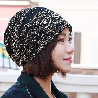 HKHJN El sombrero de niña ELASTIC LACE bufanda conjunto de gorro ...