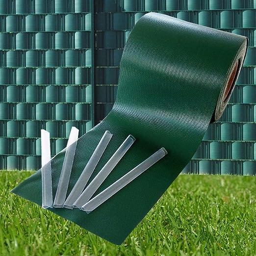 ODT PVC 650 g/m² 35 mx19 cm Visión – Tiras Valla PVC Varios Modelos para el Jardín Valla o Balcón, Verde: Amazon.es: Jardín