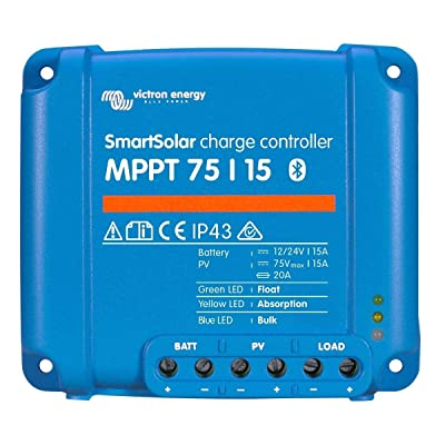 Victron SmartSolar MPPT 75/15 Solar Charge Controller 75V 15A with Bluetooth: Industrial & Scientific