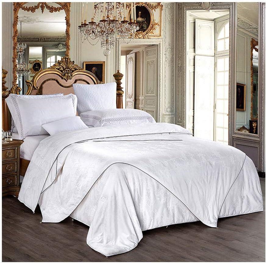 高い等級は暖かいシルクのキルトの柔らかい二重の1つのキルトの中心の寝室のホステルのベッドのライニングを保ちます (色 : 白)