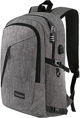 Amazon.com: Mancro - Mochila para ordenador portátil y de ...