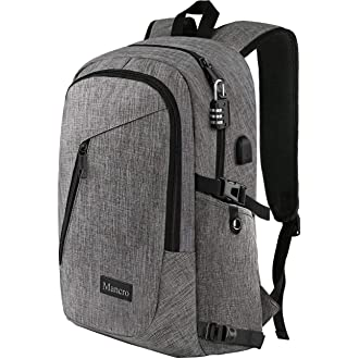 #11 Laptop Backpack, Travel Computer Bag for Women & Men, Anti Theft Water Resistant College