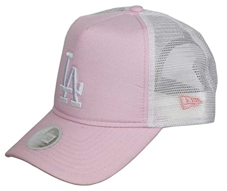 664a2505a85 New Era Hats Womens L.A. Dodgers Trucker Cap - MLB Oxford - Pink Adjustable