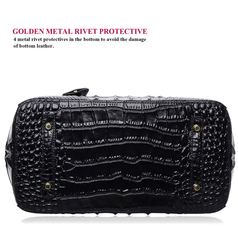 2ffdfddc6 Amazon.com: PIJUSHI Women's Handbags Crocodile Top Handle Satchel Bags  Designer Padlock Handbags For Women (P10103 Crocodile Black): Shoes