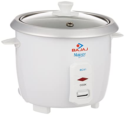 4d179f44f3b Buy Bajaj Majesty RCX 1 Mini 0.4-Litre Multifunction Rice Cooker (White)  Online at Low Prices in India - Amazon.in