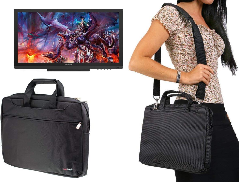 Navitech Black Graphics Tablet Case//Bag Compatible with The HUION KAMVAS GT-191V2 8192