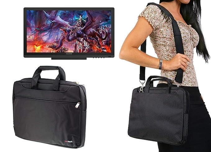 Navitech Black Graphics Tablet Case / Bag Compatible With The Huion KAMVAS  GT-191
