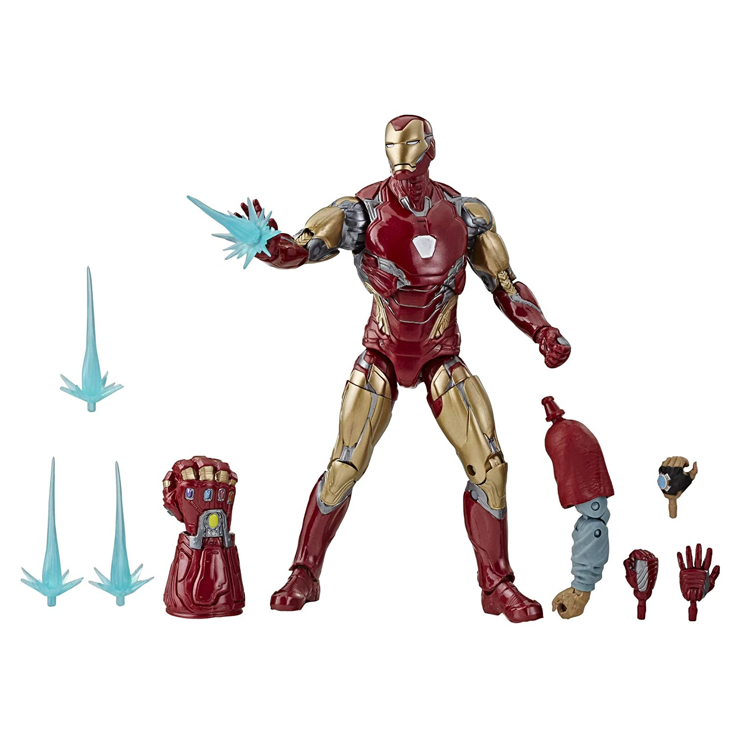 "Avengers Marvel Legends Series Endgame 6"" Collectible Action Figure Iron Man Mark Lxxxv Collection, Includes 7 Accessories"