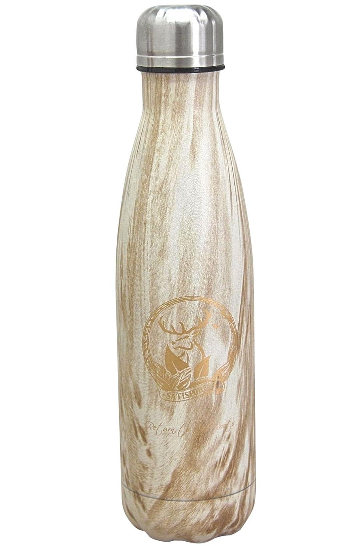 SATISFOREST Botella de acero inoxidable, sin BPA, 500 ml ...