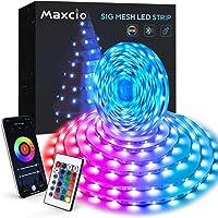 10M Tiras Led, Maxcio Bluetooth Luces Led Habitación con Modo Música, 24 Teclas Control Remoto, 8 DIY Escenas, Tiras Led…
