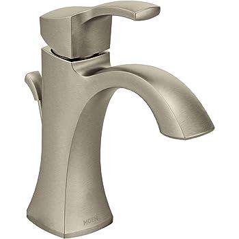 Moen Eva One Handle High Arc Bathroom Faucet Brushed