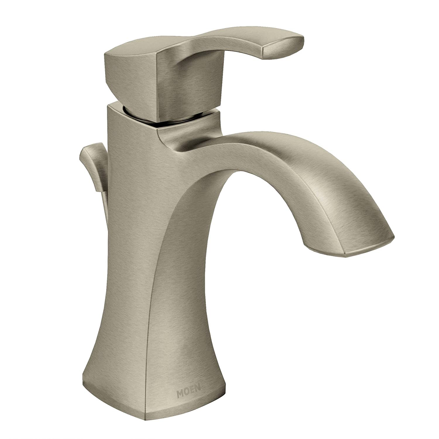 Moen 6903BN Voss One-Handle High-Arc Bathroom Faucet with Drain ...