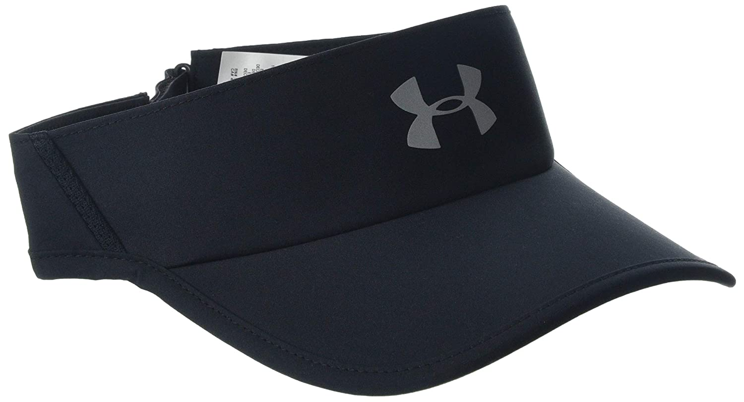 Under Armour Mens Shadow 4.0 Run Visor Black //Reflective 001 One Size
