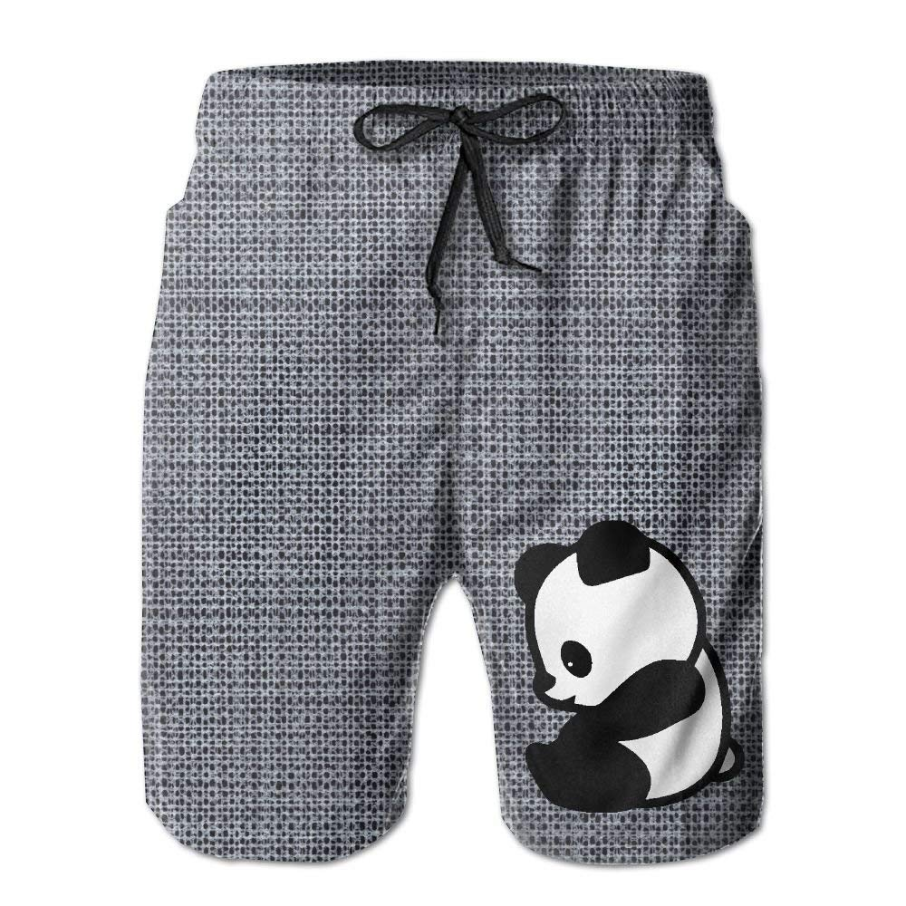 BBggyh Men's Panda Summer Leisure Boys Beach Shorts Surfing Pants