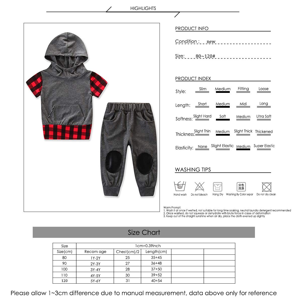 Pants Sweatsuit Casual Outfit Clothing 1-6T Kids Toddler Boy Hooded Hoodie Top