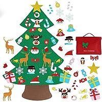 XWU Árvore de Natal de feltro, 3,2 metros DIY durável, não tecido, árvore de Natal com 30 peças de ornamentos…