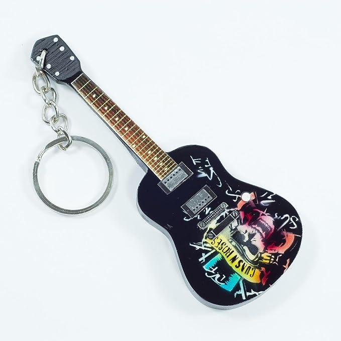 Llaveros de madera con forma de guitarra - Guns N Roses - Tribute: Amazon.es: Instrumentos musicales