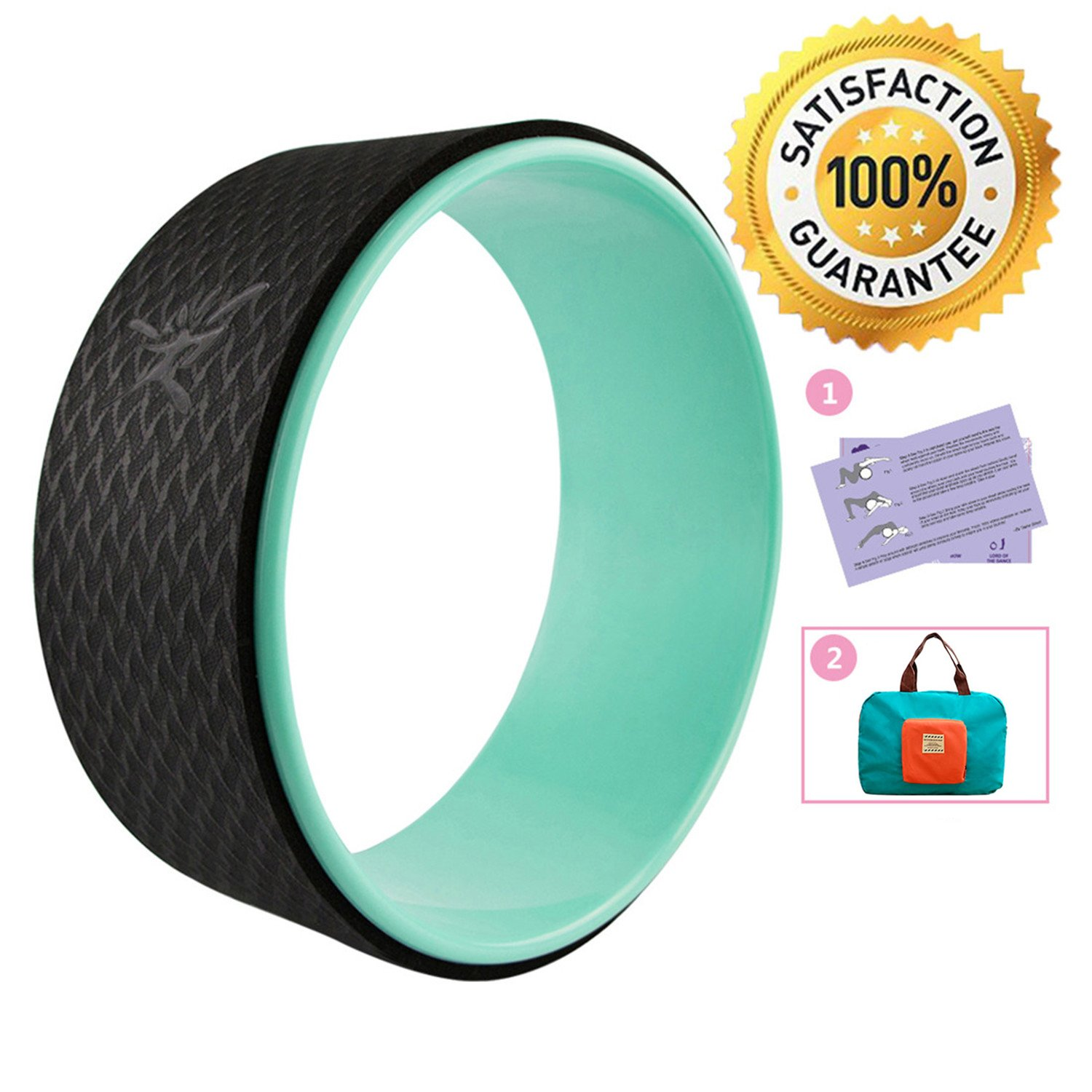 seeknfind 13 x 5 Inch Basic Yoga Wheel - Strongest & Comfortable Dharma Yoga Prop Wheel for All Yoga Poses Perfect Accessory for Stretching Increasing Flexibility and Improving Backbends (6)