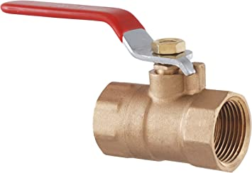 "3//4/"" Forged Brass Ball Valve Lead Free Full Port with Female Threaded NPT Connections 150 psi WSP and 600 psi WOG 8 Pack by REVALVED"