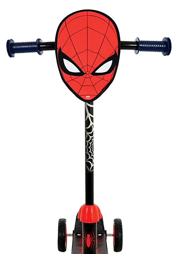 Amazon.com: Marvel Spiderman Deluxe Tri-Scooter MV Sports ...