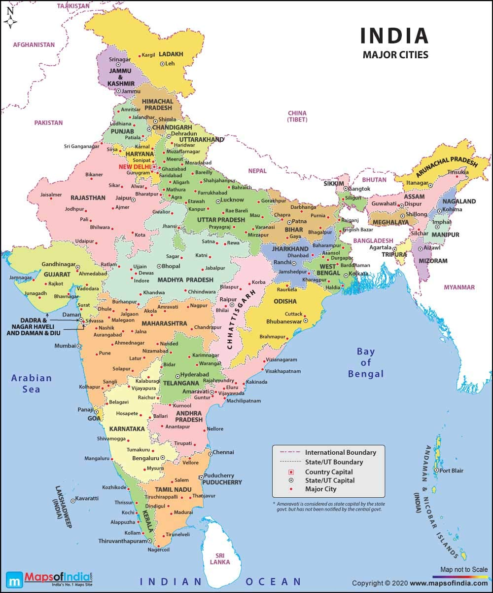 recent map of india 2020 Maps Of India Latest India Map With Capitals And 2020 Edition recent map of india 2020