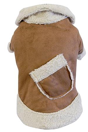 Lukis mascotas Cachorro de abrigos de invierno cálido chaquetas de forro polar bolsillo Casual acolchado con perros ropa: Amazon.es: Productos para mascotas