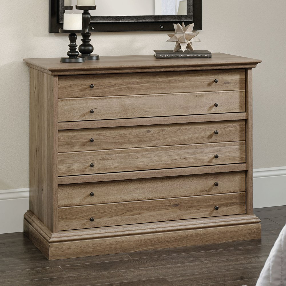 Sauder Barrister Lane 3 Drawer Chest in Salt Oak