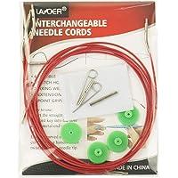 LAYOER Knitting Needles Set Interchangeable Knitting Needle Set, 4 Pack Cables