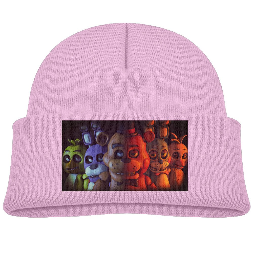 BABYISMVP Five Nights At Freddys Pizzeria Kids Beanie Skull Hat Knitted Cap Black
