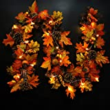 7ft 3ORANGE MAPLE//AUTUMN LEAF FALL GARLAND//WEDDING FLOWERS//DECORATION//CRAFTS
