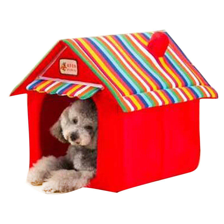 Enzhe Pet Design Incantevole Cuscino per canile Cuscino per Cani Pieghevole Letto per Gatti Morbido Soft Tappetino per Interno Rosso L