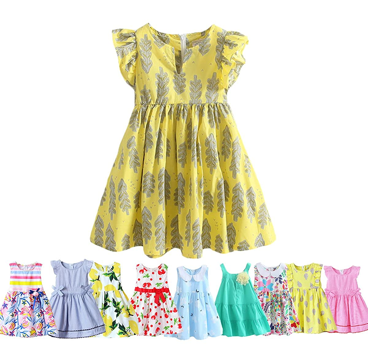 9d1fbacb3ced Top2  City Threads Girls  100% Cotton Cami Summer Dress Spaghetti Strap -  Made in USA