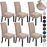 NORTHERN BROTHERS Dining Room Chair Covers Set of 6 Dining Chair Slipcover Stretch Chair Covers Slipcovers for Dining…