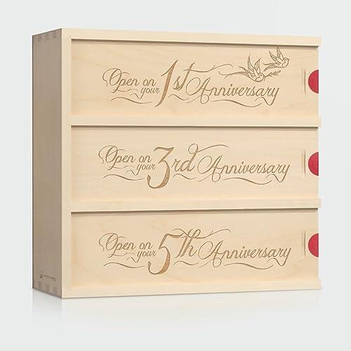 Amazon Anniversary Wine Box Love Birds Wedding Gift For
