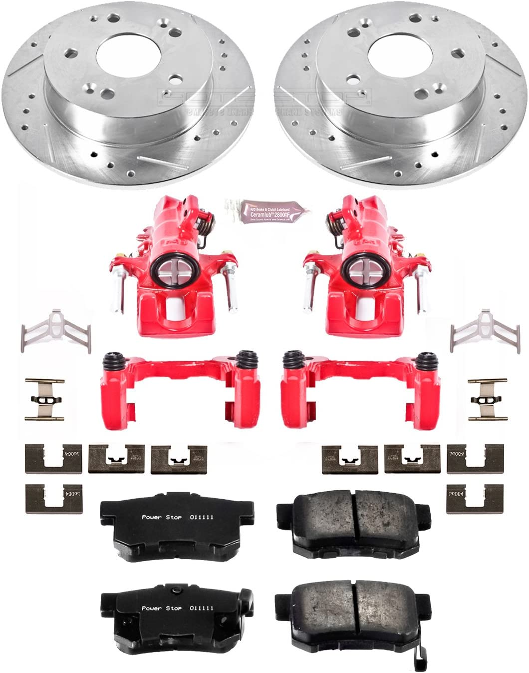 Power Stop KC2270A 1-Click Performance Brake Kit with Caliper Rear Only