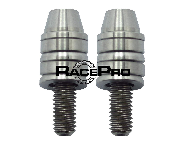 RacePro© 2x Natural M6x45mm Avid Titanio Freno Caliper Pernos Kit De Montaje (cono del casquillo del inc) GBP
