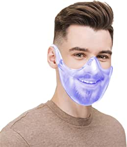 Clarity Face_Shield Clear Face_Mask for Adult,Andees Anti-Fog Clarity Face_Masks Reusable Transparent,Clear Face Bandanas Breathable Comfortable,Visible Expression for Women Men
