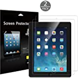 iPad Screen Protector, JETech 2-Pack PET Screen Protector Film for Apple iPad 2/3/4 (Oldest iPad Version), Bubble Free Installation, Anti-Fingerprint, Retail Packaging (HD Clear) - 0332