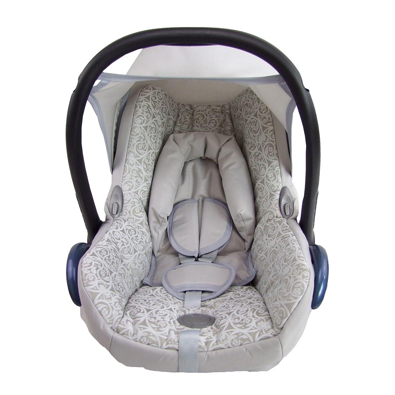 Babys-Dreams Ersatzbezug f/ür Maxi-Cosi CabrioFix 6 tlg SILBER MOSAIK *NEU* Bezug f/ür Babyschale Sommerbezug Cabrio Fix