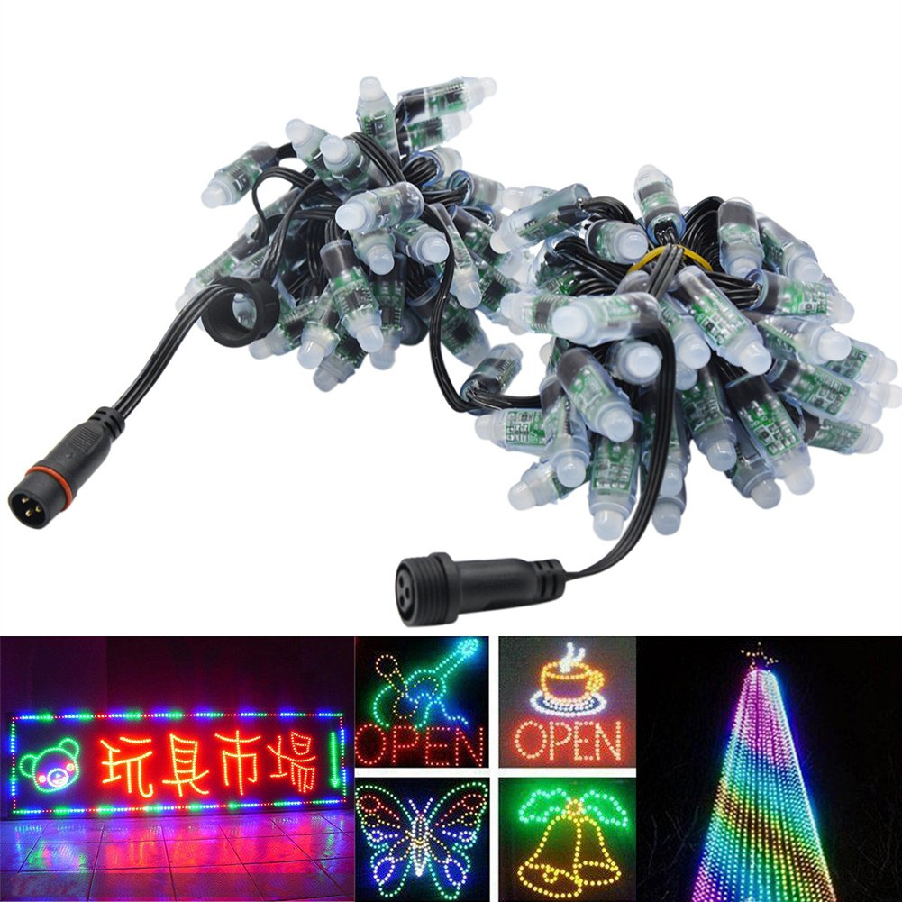 Amazon.com: WESIRI WS2811 Diffused Digital RGB LED Pixel Lights ...